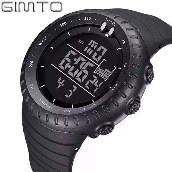 Relógio Digital Black Esportivo Preto Masculino Original Led
