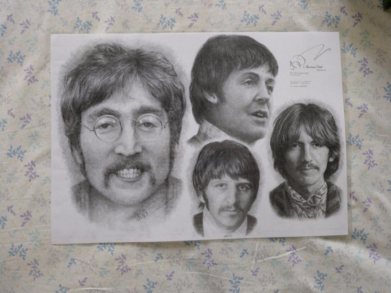 Pintura Limitada The Beatles - Artista Jonathan Wood