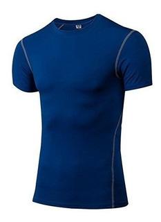Camiseta De Manga Corta De Compresion Deportiva, 3 Pares, En
