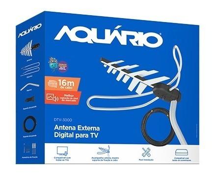Antena Tv Digital Externa 4 Em 1 Completa Dtv-3000 - Aquário