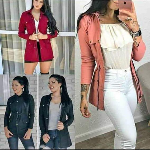 Parka Feminina Casaco Estilo Sobretudo Bergaline Top Vendas