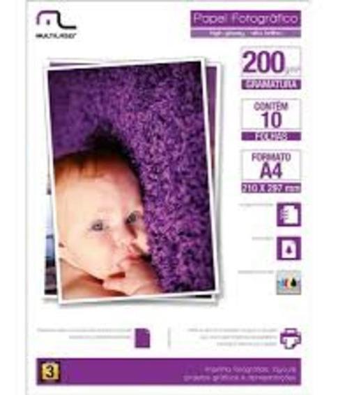 Papel Especial Photo Multilaser Paper A6 200g/m2 20 Folhas P