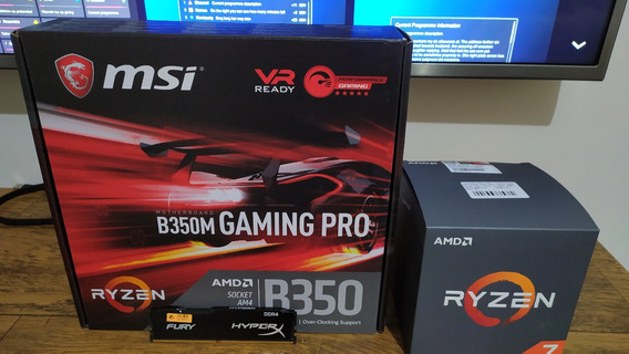 Placa Mãe Msi B350m Gaming Pro + Ryzen 7 2700 + 8gb Ddr4