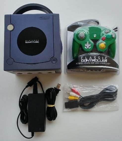 Game Cube + 2 Controles + Metroid + Memory Card + Cabos!!