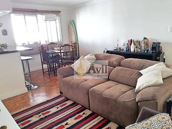 Apartamento Com 2 Dormitórios À Venda, 72 M² Por R$ 450.000 - Jardim Anália Franco - São Paulo/sp - Ap2209