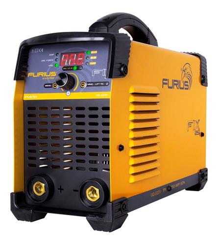 Imagen 1 de 3 de Soldadora Inversora Bi Voltaje 110/220 250 Amp Furius Fix251