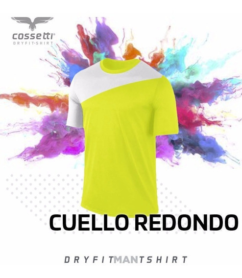 Playera Cuello Redondo Cossetti Corta Dry Fit Xl Gym Xl