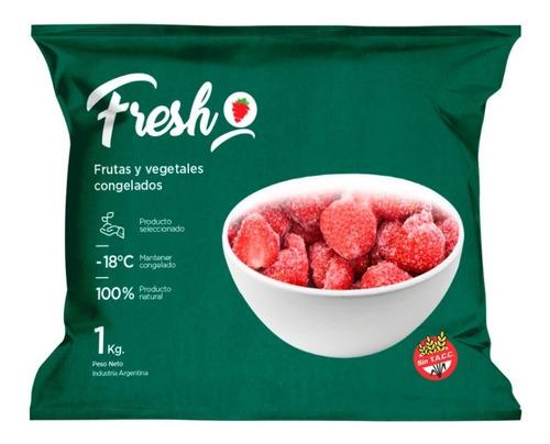 Imagen 1 de 6 de Frutilla Mediana Entera Congelada Iqf Fresh X 1kg