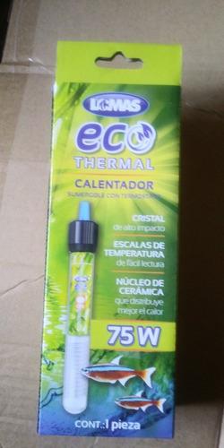Imagen 1 de 1 de Lomas Calentador Sumergible Con Termostato Ecothermal 75w Acuario Peces Pecera