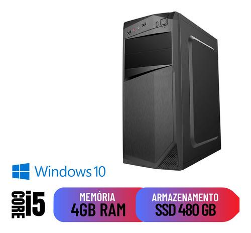 Imagem 1 de 2 de Computador Pc Home Office I5 4gb Ram Ssd 480 Dvd Windows 10