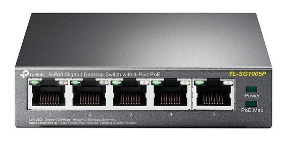 Switch 5 Puertos Tp-link Tl-sg1005p 10/100/1000 Mbp 1005 Poe