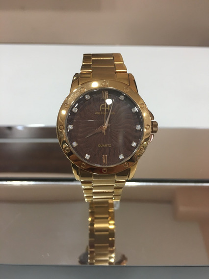 Relógio De Pulso Ana Hickmann Ah28937 Rosé Marrom Feminino