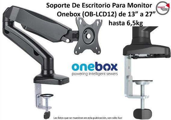 Soporte Escritorio P/monitor Onebox (ob-lcd12) De 13 A 27