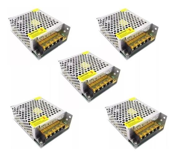 Kit 5 Fonte Chaveada 12v 10a 60w P/ Som Automotivo.