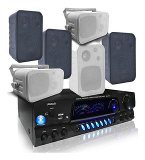 Combo Música Funcional Consola Aw1611 Bluetooth Usb+6 Bafles