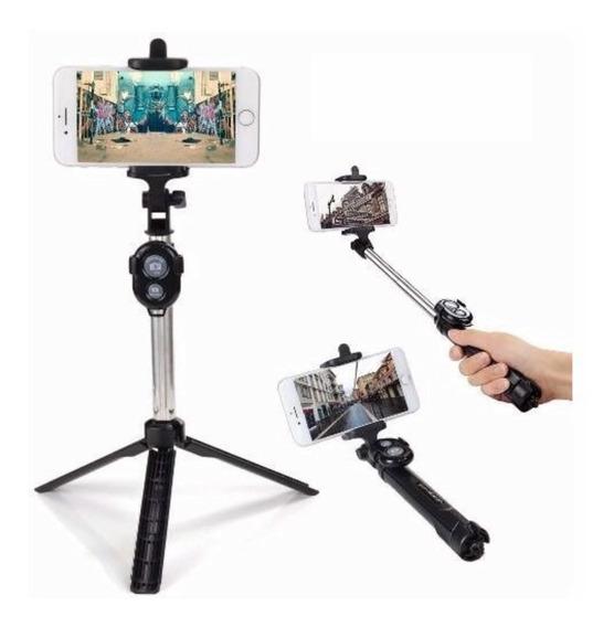 Pau De Selfie E Tripé Bastão Retrátil Para Qualquer Celular
