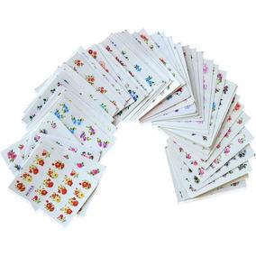 50 Cartelas Com 24 Películas Cada De Decalque P/ Unhas