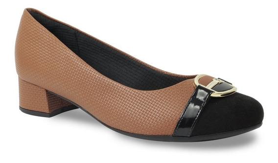 Sapato Piccadilly Feminino Salto Baixo 141092