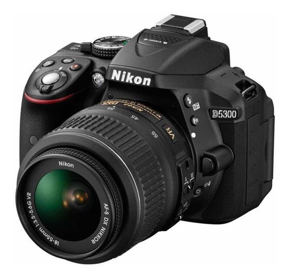 Câmera Nikon+ Lente 50mm + 200/18mm, Bolsa, Tripé E Livros