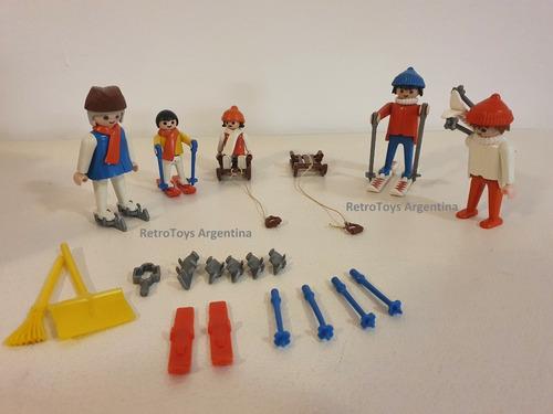 Playmobil Set Esquiadores Art 3467 Retro Vintage Colección