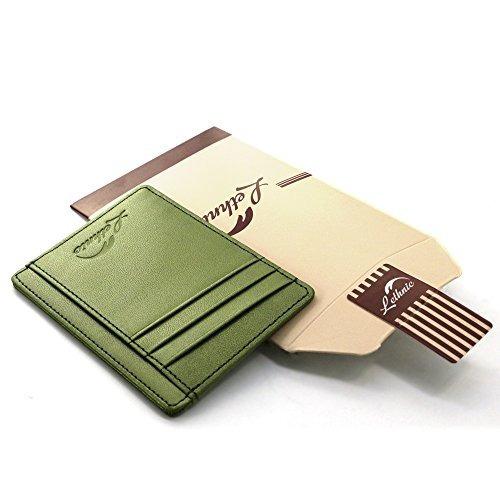 Lethnic Slim Wallet Rfid Bolsillo Frontal Billetera Minimali
