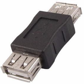 Emenda Junção Usb/usb Femea Adaptador Extensor Conector