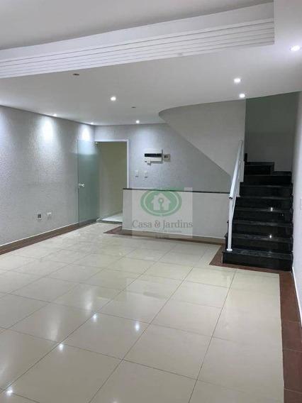 Linda Casa Na Vila São Jorge - 4 Dormitorios + Solariun C/churrasqueira - Santos - Ca0794