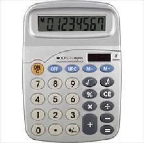 Calculadora De Mesa 8 Dígitos Bateria/solar Cinza