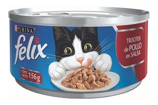 Alimento Para Gato Purina Felix Pollo 156 Gr