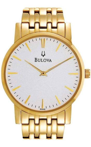 Relógio Bulova Masculino Social Dourado Wb21669h