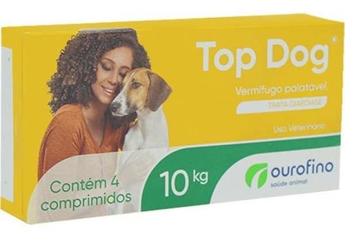 Imagem 1 de 2 de Vermífugo Top Dog Ourofino Cães Até 10 Kg Com 4 Comprimidos