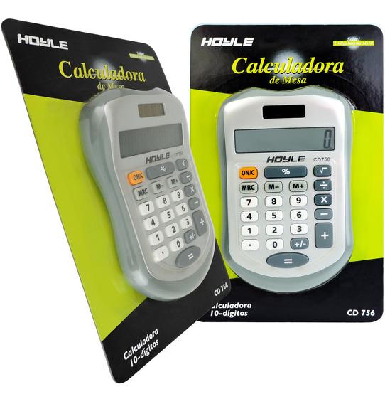 Calculadora De Mesa Solar E Bateria Hoyle 10 Dígitos