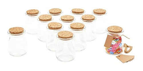 Imagen 1 de 7 de Mini Botellas De Vidrio Con Tapas De Corcho Para Manualidade