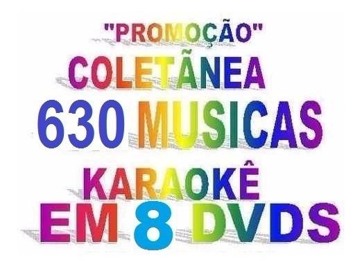 Dvdokê Karaokê 8 Dvds Musicas Pop Rock Mpb Sertanejo Forró