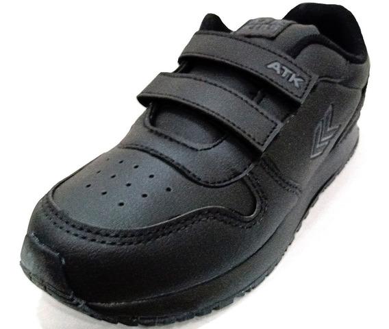 Zapatillas Escolares Con Abrojo Atomik Columbia