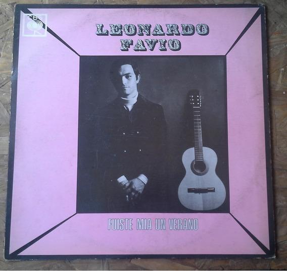 Disco De Vinilo 1968 Fuiste Mía Un Verano Leonardo Favio