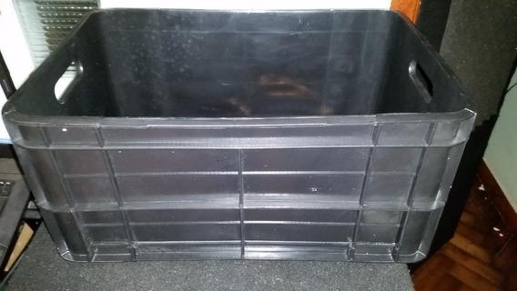 Cajón Plástico Largo Para Vinilos Carga 160 Discos Excelente