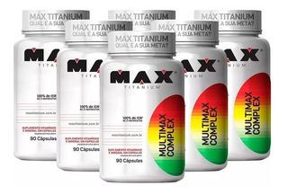 6x Multivitamínico Multimax - Max Titanium Polivitamínico
