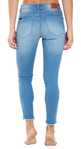 Pantalon Jean Rusty Grafitti Ld Azul Mujer
