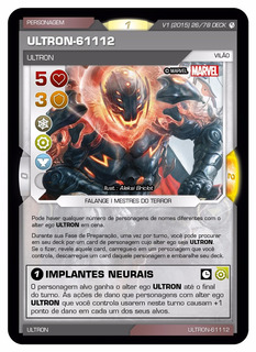 Card Ultron 61112 Battle Scenes In Vingadores N 47 Sup Rara