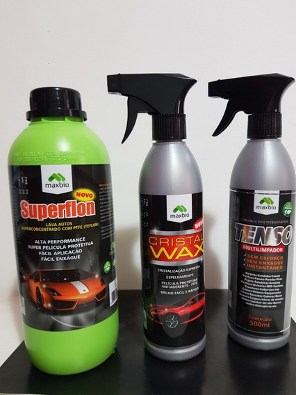 Limpeza Automotiva , Shampoo,cera Cristalizadora Limpa Tudo