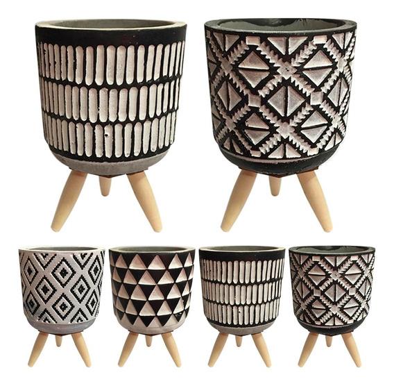 8 Vaso Cerâmica Cachepot Decorativo P/ Planta Suculenta