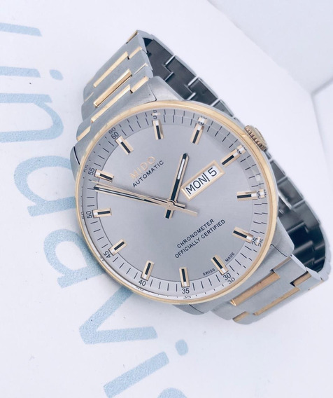 Reloj Mido Commander 2 Chronometer Jumbo Gris-dorado Automát