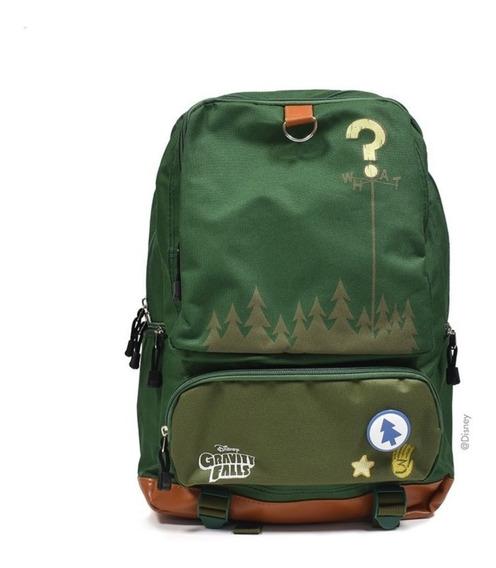 Mochila Gravity Falls- Original Disney -modelo Camping Verde