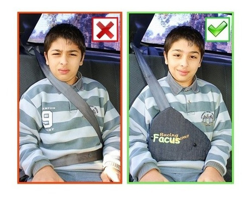 Imagen 1 de 6 de Facus Adaptador Infantil Para Cinturon De Seguridad Del Auto