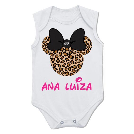 Body Infantil Personalizado Minnie Personalizável Nqvt