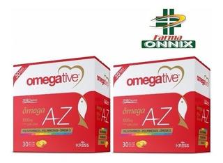 2 Caixas Omegative Az Vitaminas A-z Com Omega 3 -30 Cápsulas