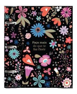 Caderno Fichário Argolado 12 Mat-capa Pvc - Fiore