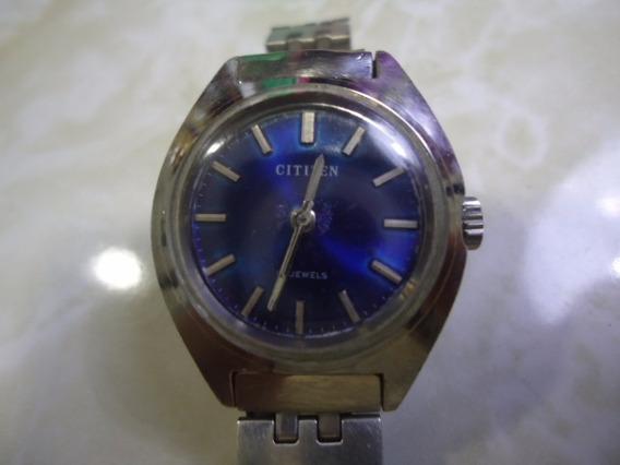 Relógio Citizen Feminino A Corda Antigo Azul