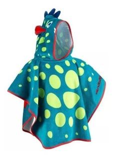 Poncho Azul Pos Natacao Para Bebê Com Capuz Animaux Nabaiji